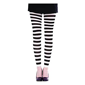 Pamela Mann Neon Twickers Striped Footless Tights - White