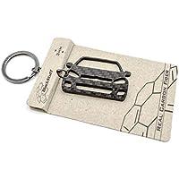 Llavero de Fibra de Carbono Volkswagen VW Golf GTI R Gt GTD MK6 ABT 4 Movimiento