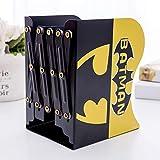 Sanqing Batman Serre-Livres Pliables en Acier, série Marvel Serre-Livres pour Chambre d'enfant, pour Bureau, Maison, décoration de Bureau Batman...