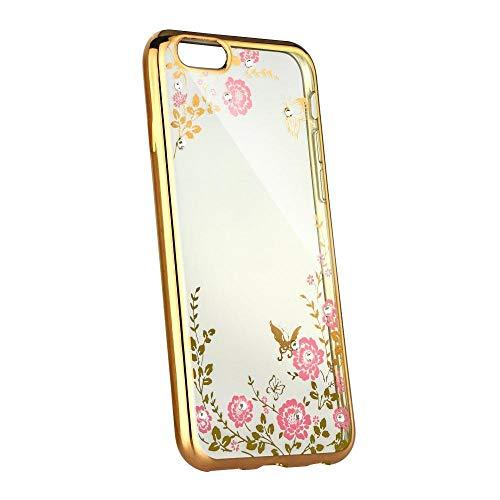 ALPEXE Étui de Protection pour Samsung Galaxy A8 2018 Motif Floral avec des Diamants Clignotants Multicolo