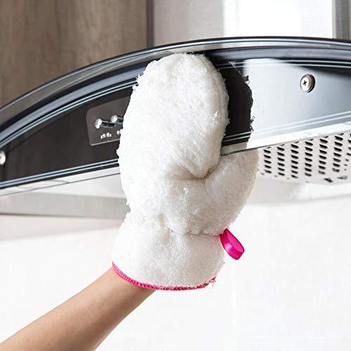 Saniswink Praktische tragbare Küchenutensilien 1 Stück Geschirrwaschschrubber ölfest wasserdicht Haushalt Hausarbeiten Reinigung Handschuh Werkzeug Einheitsgröße (Schaum Gummi Kostüm)