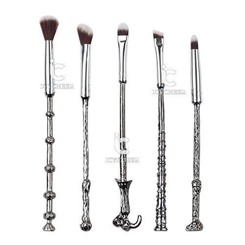Schminkpinsel 5er-Set, Harry Potter, silbern, Lidschatten, Bürsten, Fantasy, Make-up-Werkzeug-Set