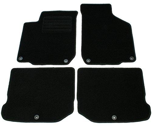 Juego de alfombrillas de velour negras específicas para cada modelo de coche (ver modelos de vehículo compatibles en la descripción) moquetas esterillas esteras alfombras