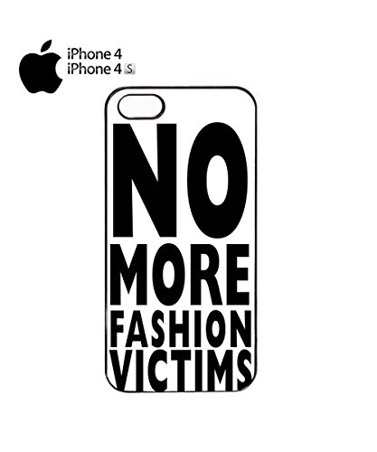 No More Fashion Victims Victim Funny Tumblr Instagram Mobile Phone Case Cover iPhone 6 Plus + White Noir