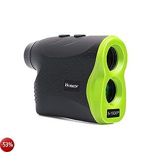 Golf Telemetro laser-Huepar LR1000P 6x25mm Ottica Ranger Finder con sensore Pin, misurazione fino a 1.094 metri, batteria scarica (verde chiaro / nero)