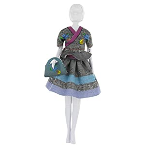 MaRécréation-Dress Your Doll Steffi Tweed Coser Traje muñeca maniquí, hg-hoipu-2bnb