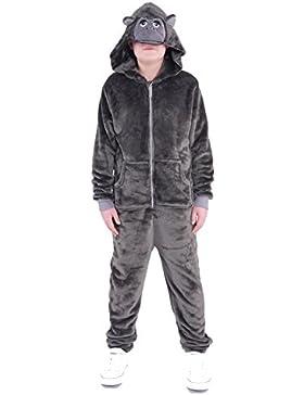 ONEZEE LBB Kinder Tier Kostüm Jumpsuit Overall Einteiler Jumper Anzug Jogger