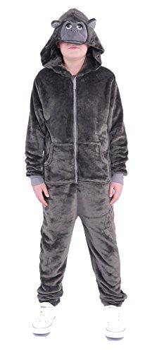 Kostüm Gorilla Anzug (88S1 ONEZEE LBB Kinder Tier Kostüm Jumpsuit Overall Einteiler Gorilla)