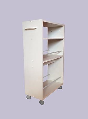 küchenwagen nischenwagen küchenregal weiß buche küchenregal auf ... - Küchenregal Auf Rollen
