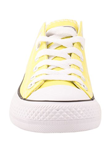 Elara Femmes Baskets Low Loisirs Chaussures de Sport Basic Lacets Jaune