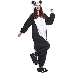 PALMFOX 2018 Mode Panda Kigurumi Pijamas Unisexo Adulto Traje Disfraz Animal Adulto Animal Pyjamas Traje Disfraz de Halloween