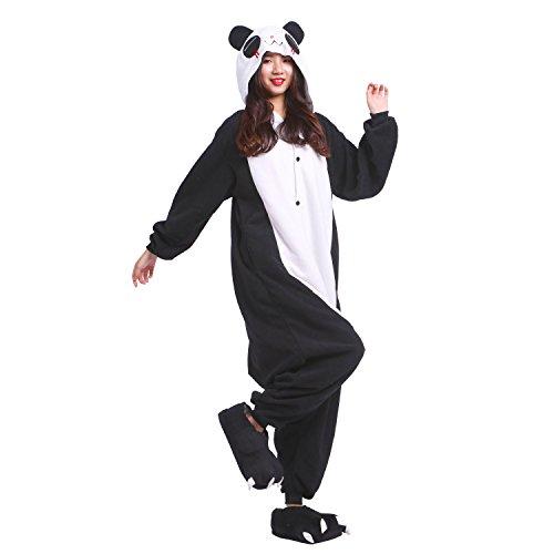 PALAFOX Kostüm Pyjamas Panda Erwachsene Kigurumi Schlafanzug Anime -