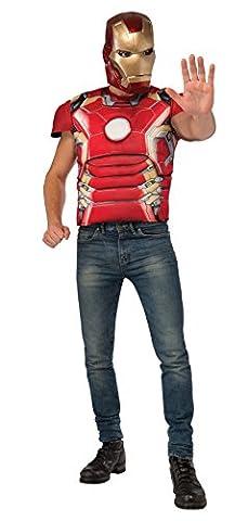 Iron Man T-shirt Costume - Kit costume de Iron Man musclé Avengers: