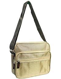 04b73f15ba Vetrineinrete® Borsello da uomo con chiusura a zip borsa a spalla con tre tasche  e tracolla regolabile borse in…