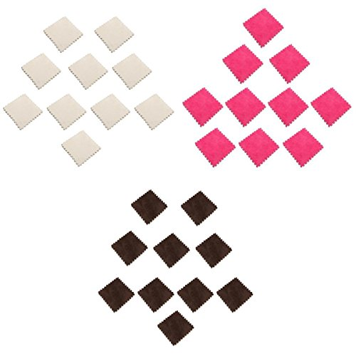 Homyl Tapis Protection Sol Tapis de Jeu Tapis d'Exercice Puzzle Décor 30pcs - Rose Rouge Blanc Brun
