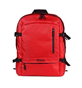 "Dussel Laptop Backpack for Aircraft Cabin / Hand Luggage for Easyjet Ryanair for up to 17"" Laptops Cabinmax 55 X 40 X 20 cm [Red]"