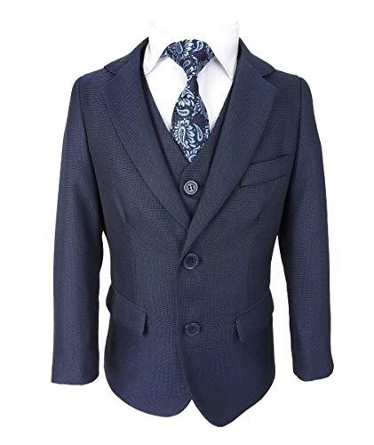 SIRRI Jungen 5 STK. Alles in eins Blau Jungen Anzug - Blau, 12 Years - 5 Taste Jungen Anzug