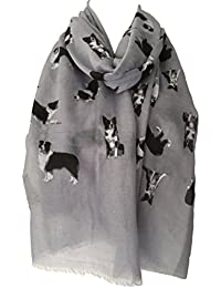 Purple Possum Border Collie Dog Scarf, Grey Dogs Scarf, Black White Border Collies Wrap