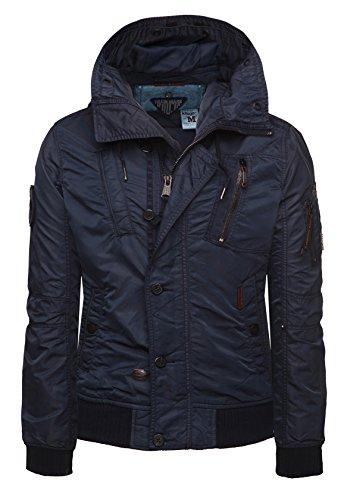 Khujo giacca da uomo Beam 2384jk151_ 450 blu (450 Navy) L