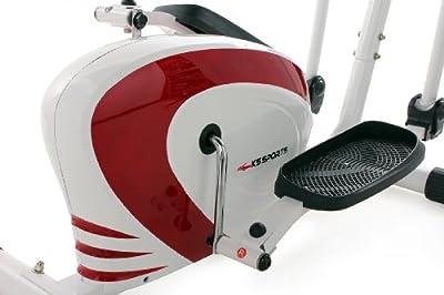 KS Cycling Fitnessgerät Crosstrainer Sports, Weiß-Rot, 204F