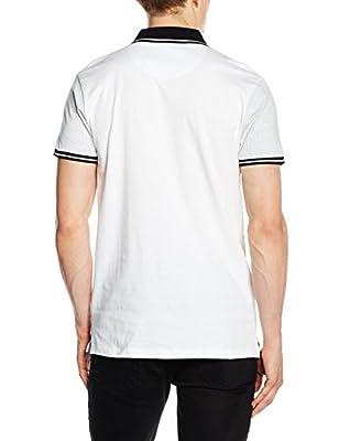 New Look Men's Pin Dot Yoke Polo Shirt