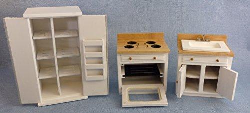 Casa Delle Bambole Vittoriano Tradizionale Bianco Bagno Suite Mobili In Miniatura Set