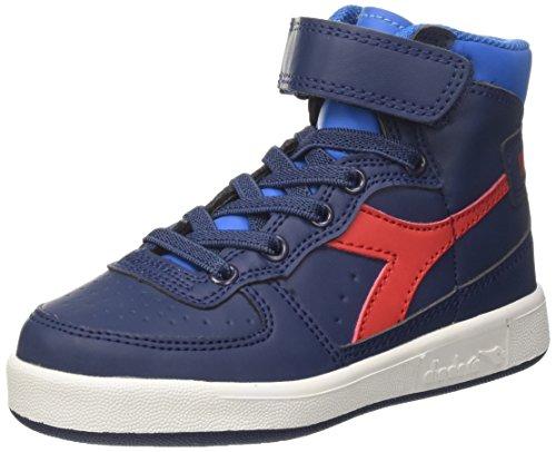 Diadora mi basket ii jr, sneaker a collo alto bambino, blu (estate blue/directoire blue), 31 eu