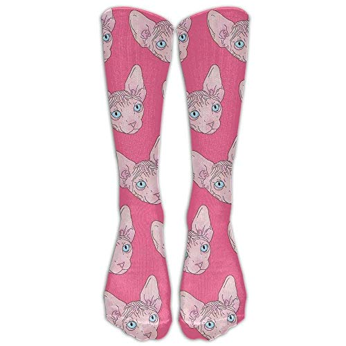 Sangeigt Pink Unicorn Alpaca Womens Mens Funny Athletic Long High Stockings 65cm