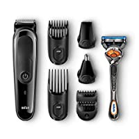 Braun 8-in-1 All-in-one Trimmer MGK3060, Beard Trimmer and Hair Clipper (UK 2-Pin Bathroom Plug)