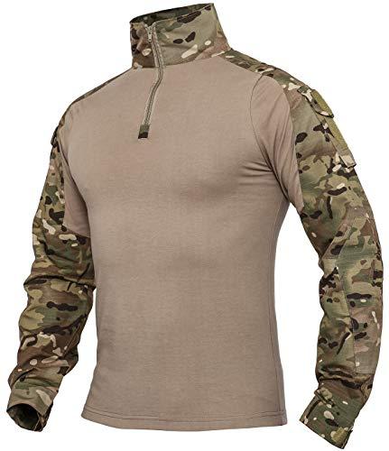 XKTTAC Herren Taktisches Hemd Outdoor Shirt Kampfshirt für Militär und Airsoft (CP, M)