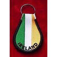 Irlanda Irlandese Tri Colori Bandiera Ricamato Portachiavi Anello - Colori Bandiera Irlandese