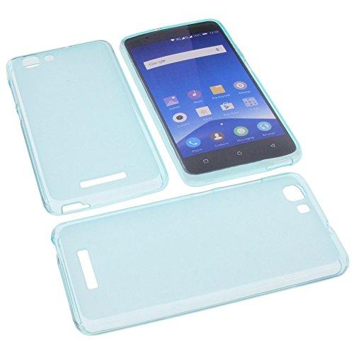 Tasche für Mobistel Cynus F10 Gummi TPU Schutz Handytasche blau