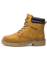 Homme Martin Bottes Bottines De SéCurité SuèDe Bottes De Neige Automne  Hiver Chaud Chaussures à Lacets Talon… 21e6c193ff9b