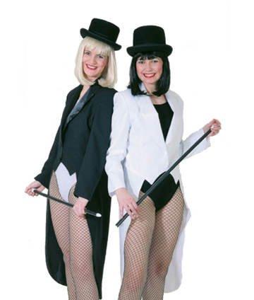 PARTY DISCOUNT Damen-Kostüm Frack, schwarz, Gr. 42-44