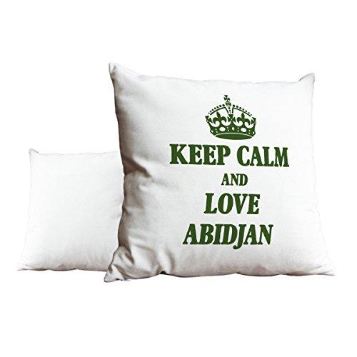 Grün Keep Calm und Love Abidjan weiß Scatter Kissen 2067