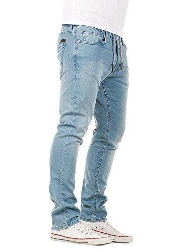 WOTEGA Herren Jeans – Sweathose in Jeansoptik Noah – slim, Blau ... cb087a4d71
