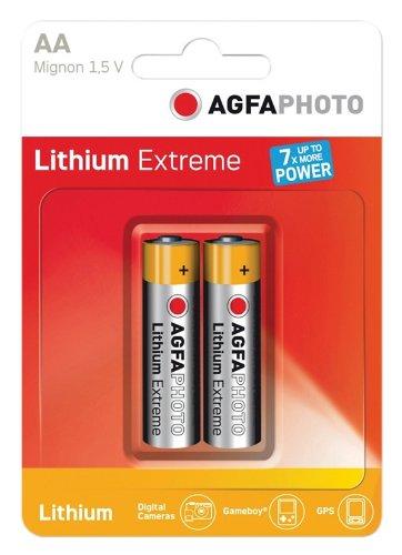 AGFA PHOTO et AA Pile Lithium Ultra Blister de 2
