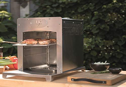 BBGrill Genius XL Original Hochtemperatur Gasgrill bis 800 Grad Edelstahl mit Pizzastein und Heber