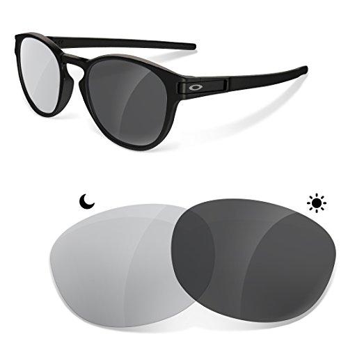 sunglasses restorer Kompatibel Ersatzgläser für Oakley Latch, Photogrey Linsen