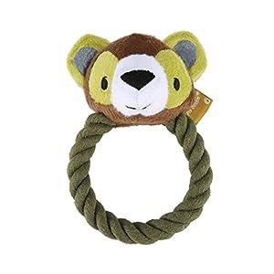Pro Goleem durable Squeak jouet pour chien robuste doux en peluche jouet à mâcher avec corps non jouet pour animaux de compagnie