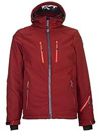 TEXPÖ Softshell Jacke Funktionsjacke 3M Scotchlite Reflective rot-oran