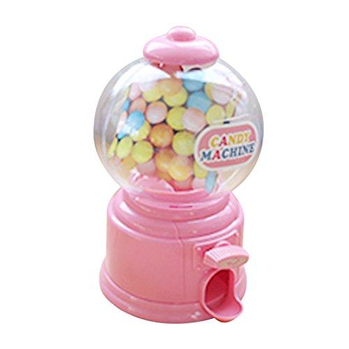 LOVIVER Mini Candy Bubble Dispenser Maschine Münze Bank Spielzeug Für Kinder - Rosa