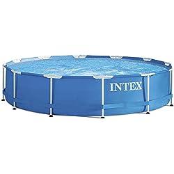 INTEX Kit piscinette Metal Frame ronde 3,66 x 0,76 m