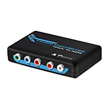 PORTTA HDMI Converter YPbPr zu HDMI Video Audio Konverter 3D 1080p HD UHD PS4 DVD HDTV