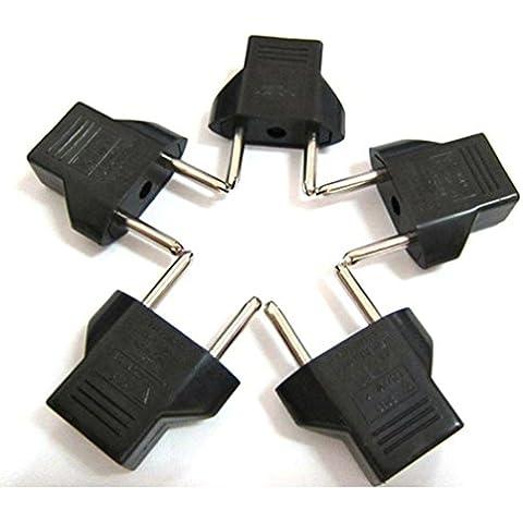 Caricatore usb a muro, Ouneed® US to EU Travel AC Power EU Adattatore Presa Converter 2 Pin (5pcs)