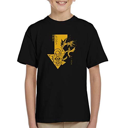 Yu Gi Oh Pharaoh Atem Profile Kid's T-Shirt (Bleach-profile)