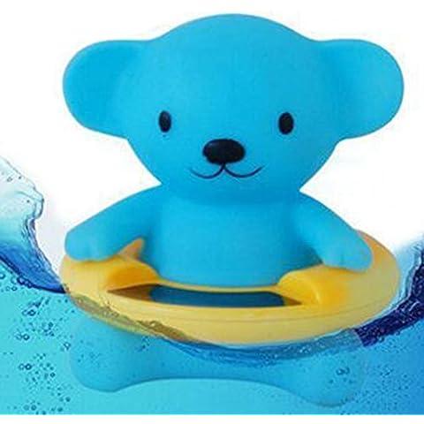 Highdas Bagnetto termometro sicurezza Anatra impermeabile giocattolo del bagno Cubs