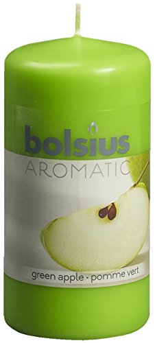 Ivyline Bolsius - Candela profumata alla mela verde, 120 x 60 (Profumi Naturali Croccante Mela)