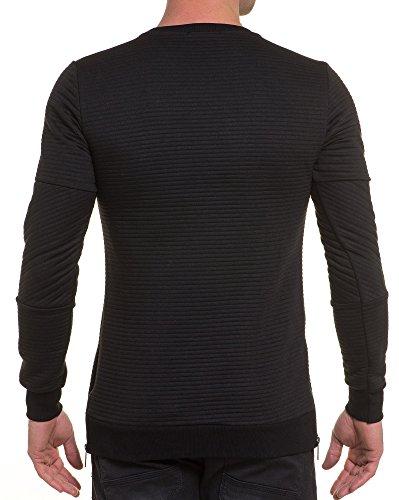BLZ jeans - Sweat schwarz gesteppte Übermaß rechts Straße Schwarz