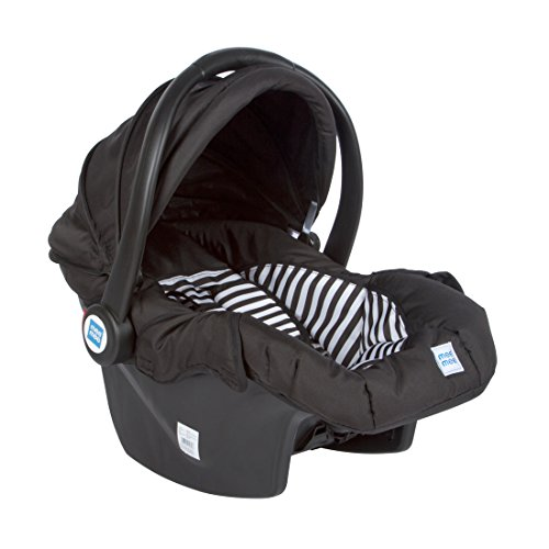Mee Mee Baby Car Seat Cum Carry Cot with Thick Cushioned Seat (Black)